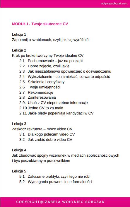 Kurs Online Skuteczne Dokumenty Aplikacyjne Cv I List Motywacyjny